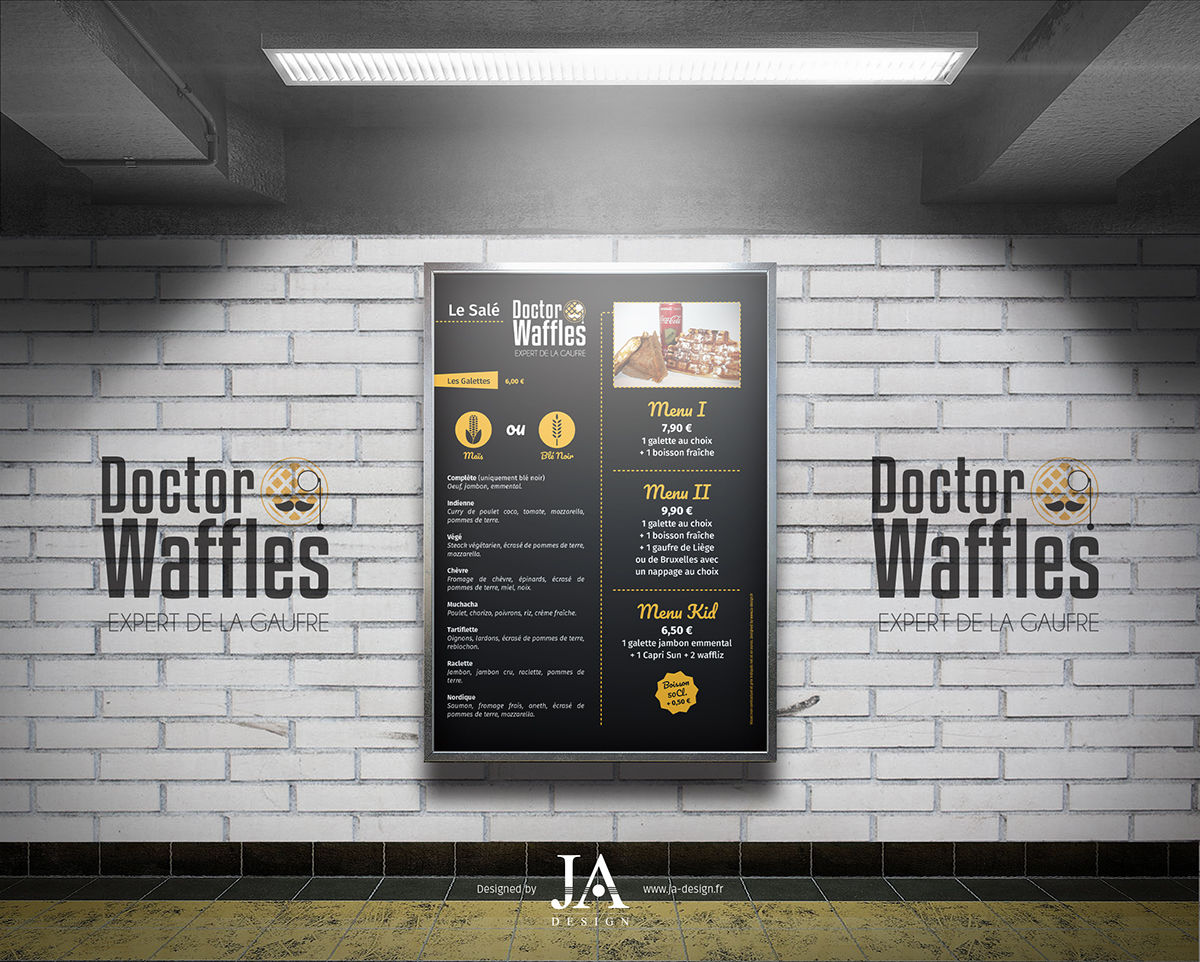 Menu Board - Doctor Waffles