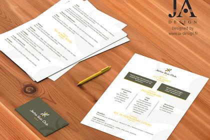 Eléments de papeterie pour l'hôtel Jerba Sun Club