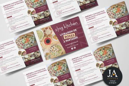 "Flyer Spécial Boxes ""Zing Kitchen"""