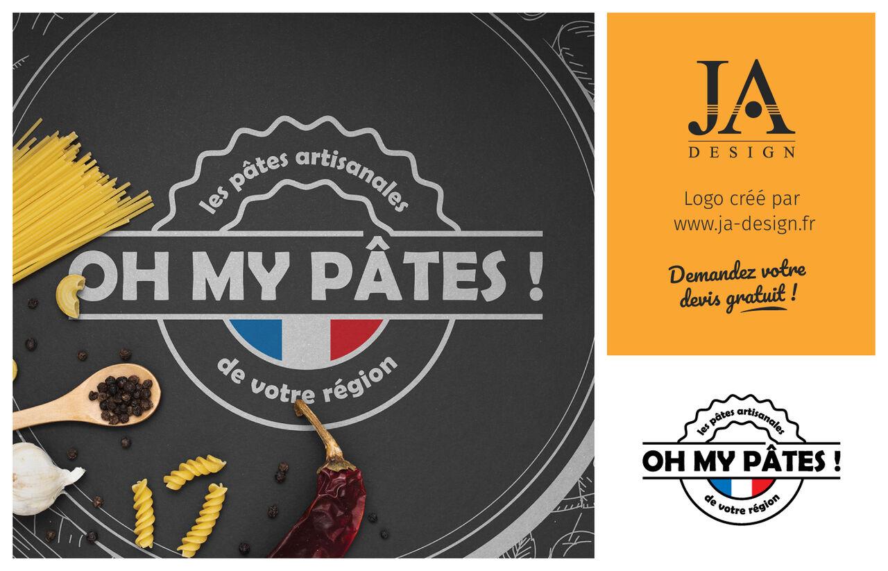 "Logo ""OH MY PÂTES!"""