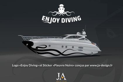 "Logo ""Enjoy Diving"" et Sticker ""Pieuvre Noire"""