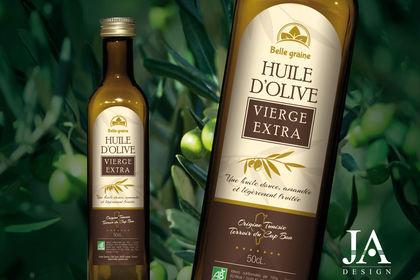 """Etiquette Huile d'Olive """"Belle Graine"""""""