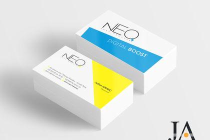 Réalisation de carte de visite pour NEO easy