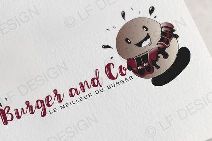 Création logo Burger and Co