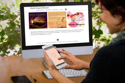 Création Webdesign du site Opale Expert Beauté