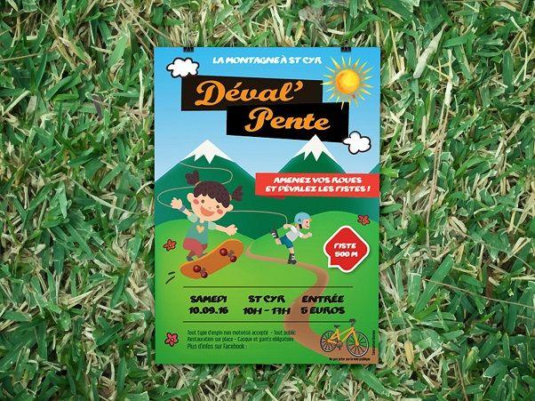 Affiche & Flyer Deval'Pente