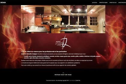 Réalisation site Metal art & design