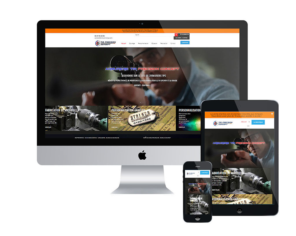 Site internet Armurerie TPC