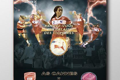 Affiche format A2 mach handball