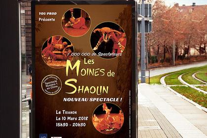 Affiche1 spectacle Moines de Shaolin