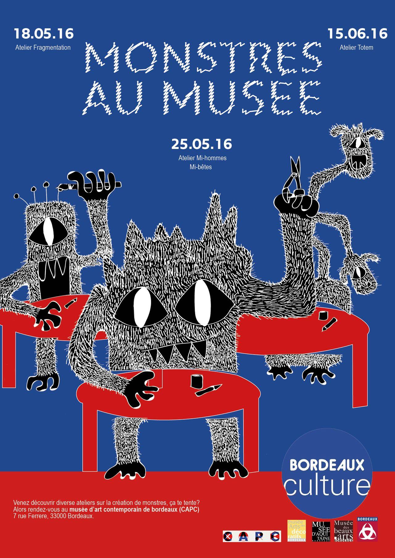 """Affiche """"Monstres au musée"""""""