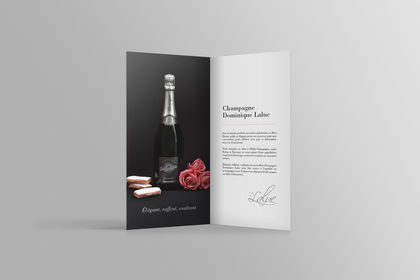 Dépliant Champagne Dominique Laluc