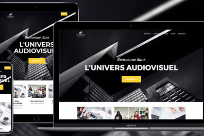 Site internet - Univers Audiovisuel