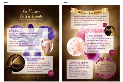 Flyer pour un institut de beauté