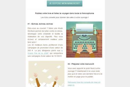 Emailing pour La Journée du Manuscrit Francophone